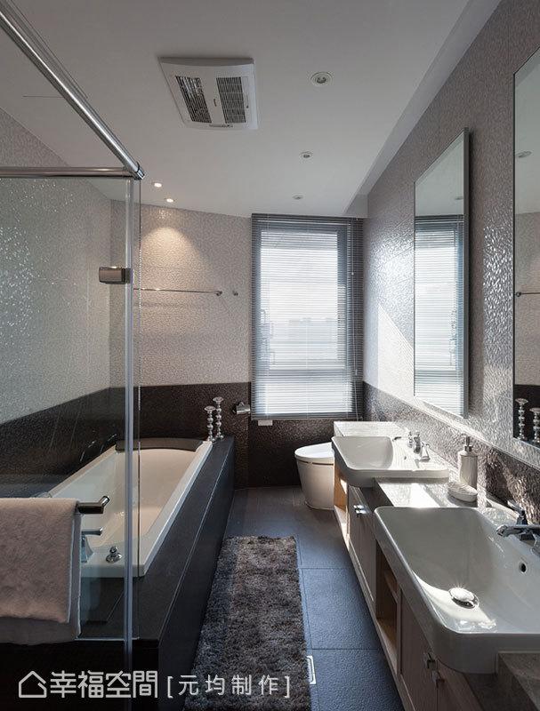 設置兩個洗手檯面,讓男主人與女主人各有各的專用設備,同時使用也不受干擾。