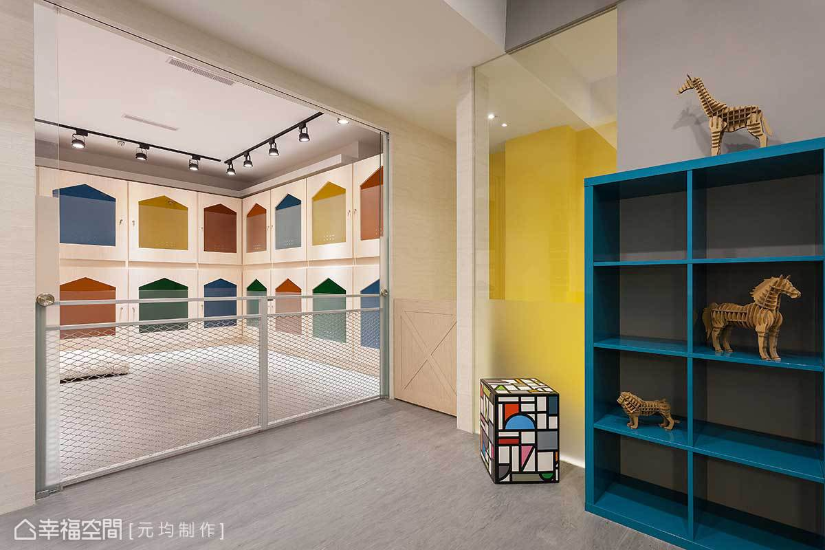 元均制作相當注重毛孩子的自身體驗,從情緒與色彩來解析配色原則,打造一個環顧所及都是繽粉色彩、心情愉悅的好感居家。