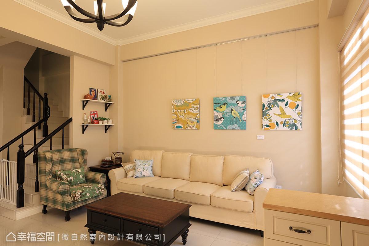 淺棕色為空間注入陽光曬過的溫暖,搭配與屋主品味呼應的傢俱,呈現出道地的美式新古典風情。