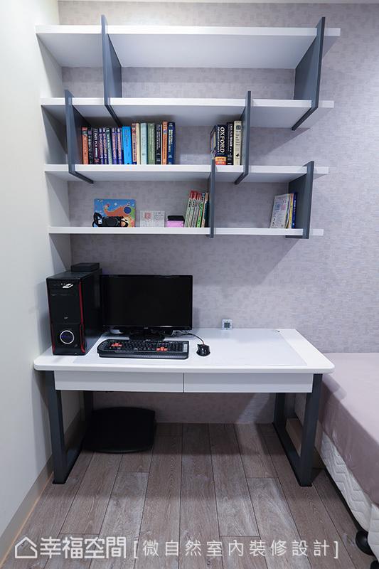 兼具客房機能的男主人書房,依照使用者的需求量身規劃妥適的設備機能。