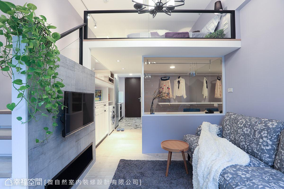 簡約美式鄉村 7.5坪灰藕色氣質小豪宅