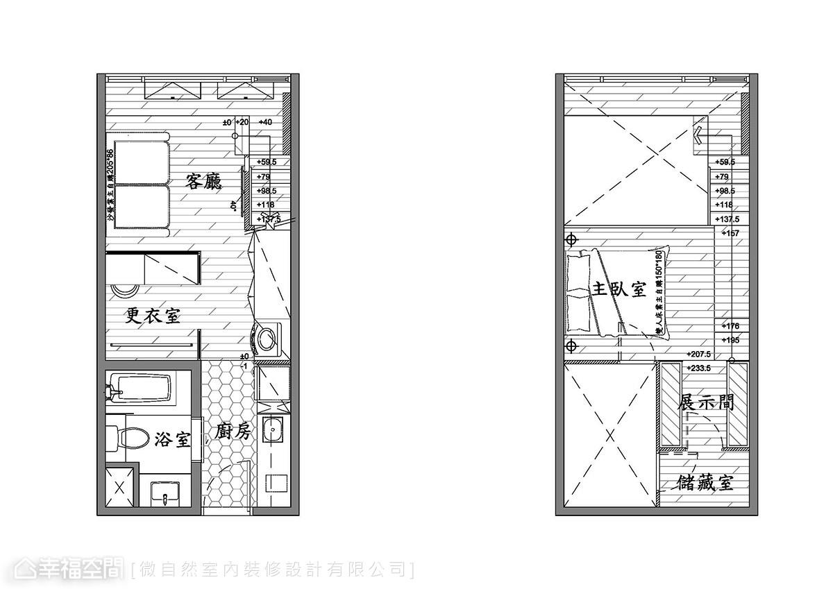 美式風格 挑高樓層 老屋翻新 微自然室內裝修設計有限公司