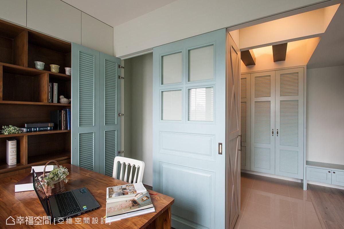 隱藏在書房內部的儲藏室,將日常雜物收納於無形。