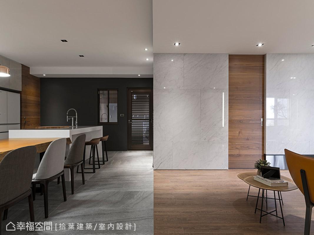 現代風格 大坪數 毛胚屋 拾葉建築/室內設計