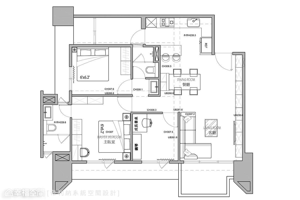 北歐風格 小坪數 新成屋 帝利納系統空間設計