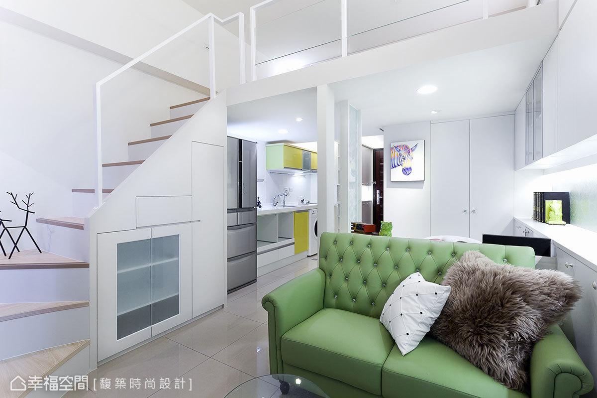 混搭風 挑高樓層 新成屋 馥築時尚設計