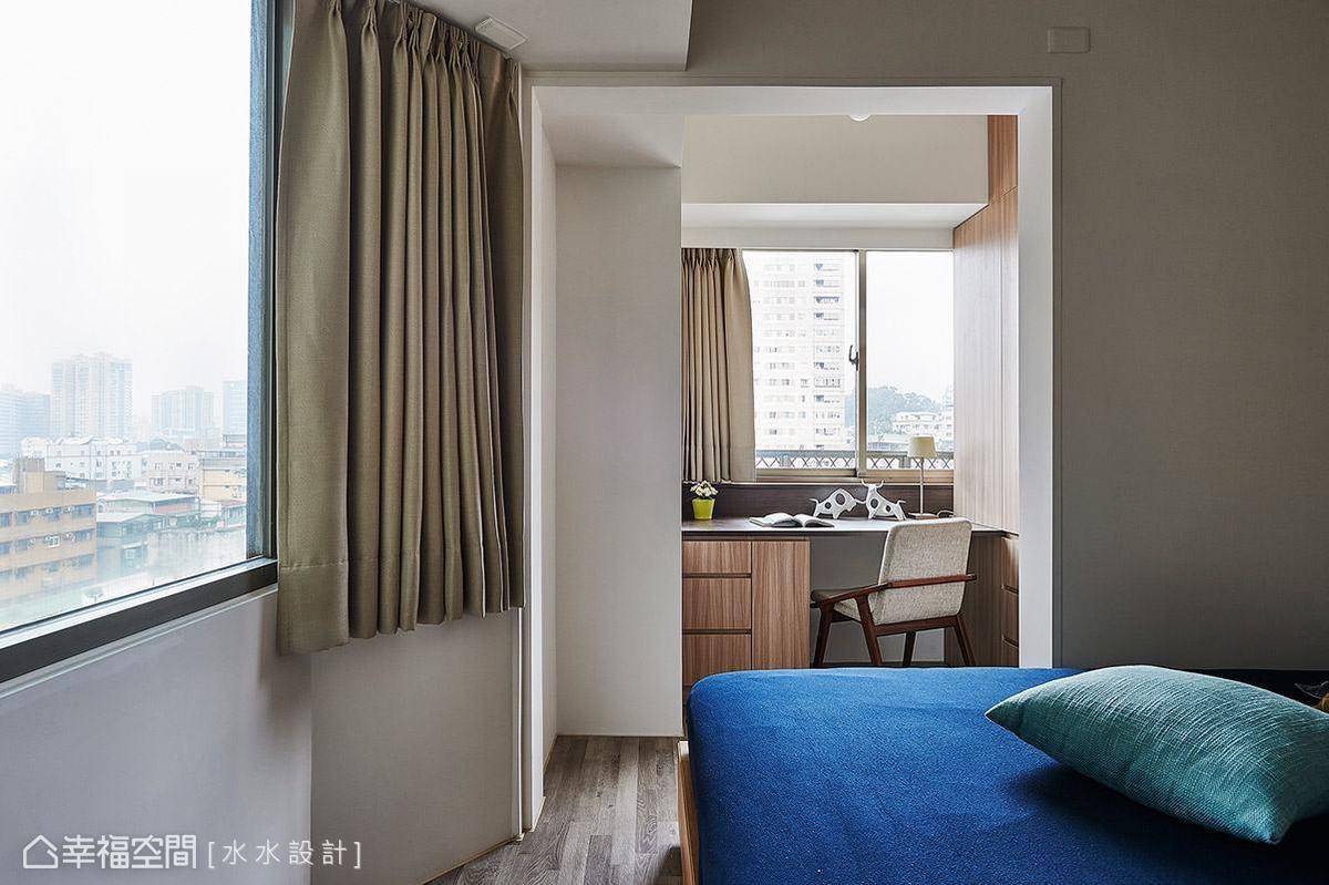 於主臥室增加書房機能,讓女主人擁有完整的私人休憩空間。