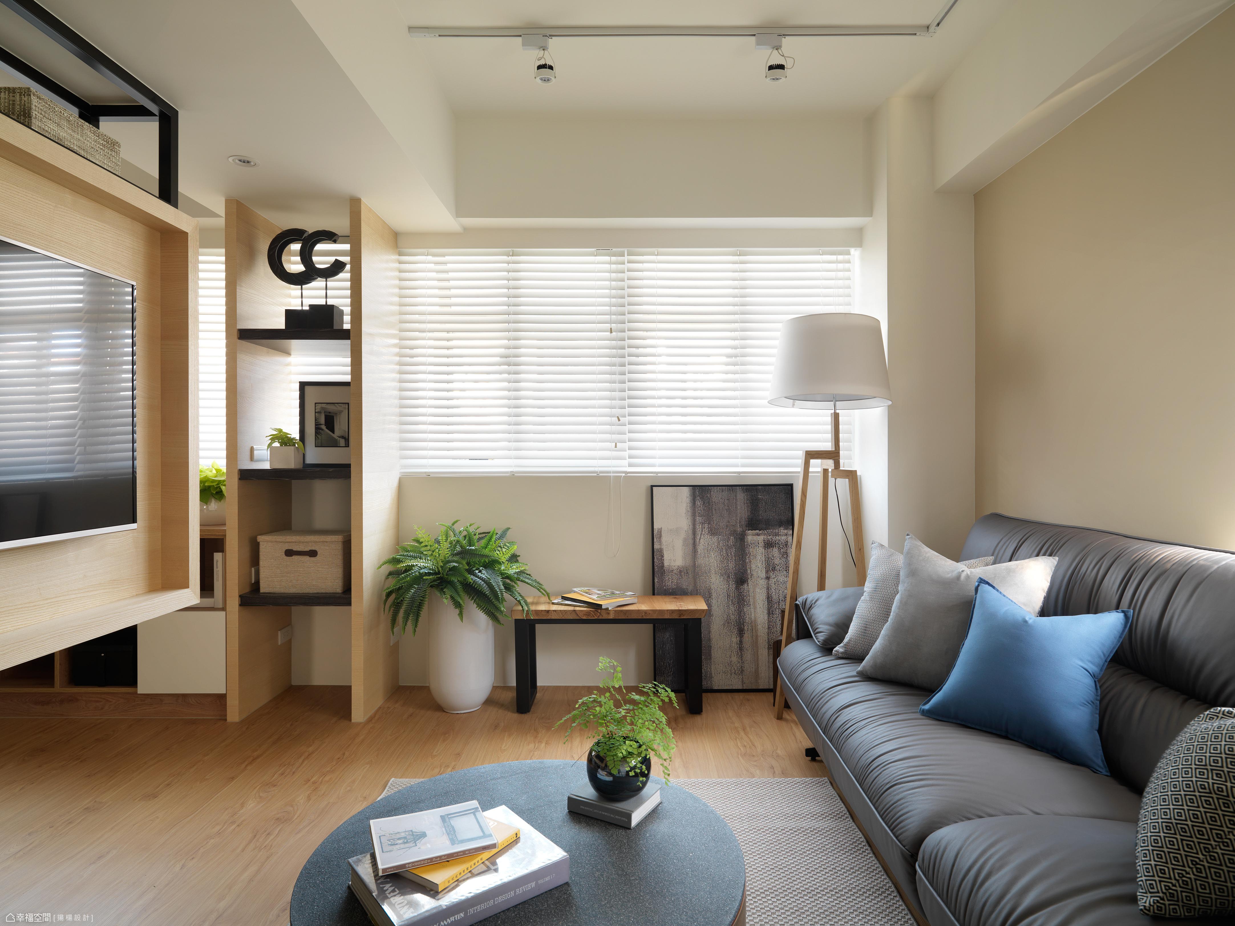 以木質與輕淺色為基調,讓空間純粹乾淨,並強調直線、理性的表現形式,完美演繹北歐與現代極簡風格。