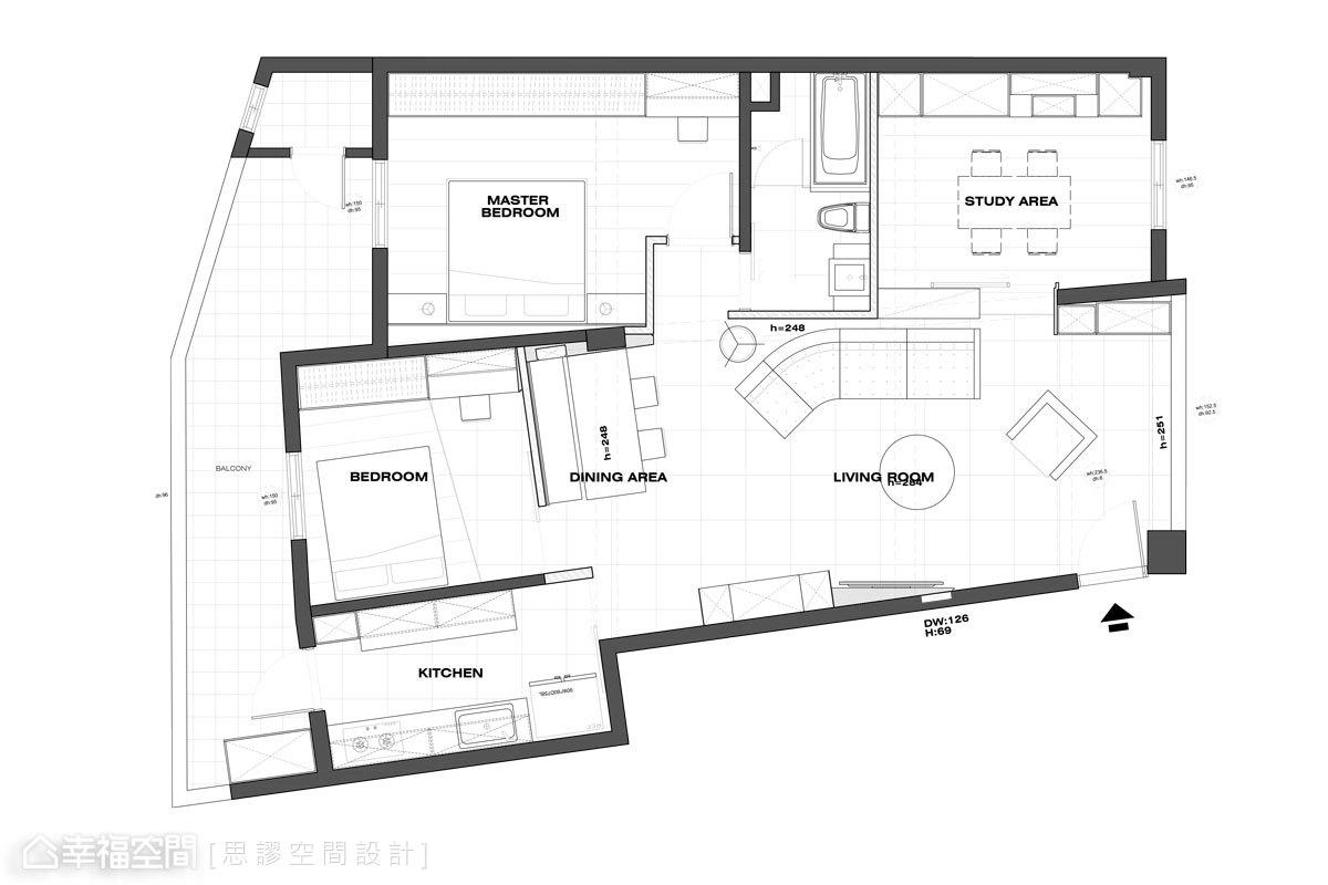 現代風格 標準格局 老屋翻新 思謬空間設計