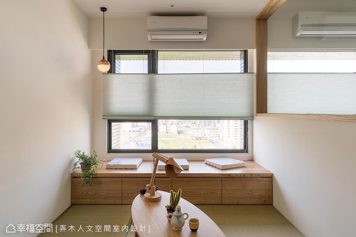 窗邊臥榻不僅可提供收納機能,也可作屋主靜物拍攝的場地。