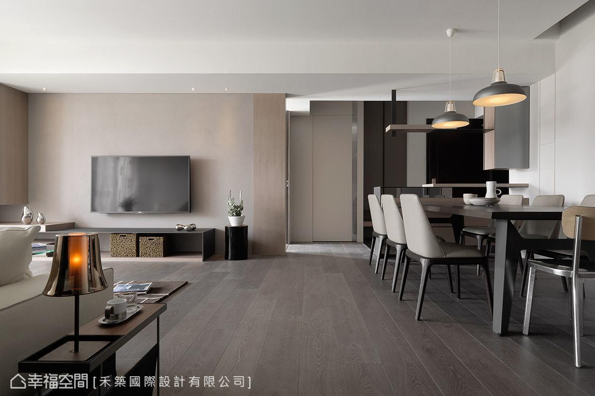 譚淑靜設計師以大地色系作為空間基調,引領出沉穩安定的場域氛圍。
