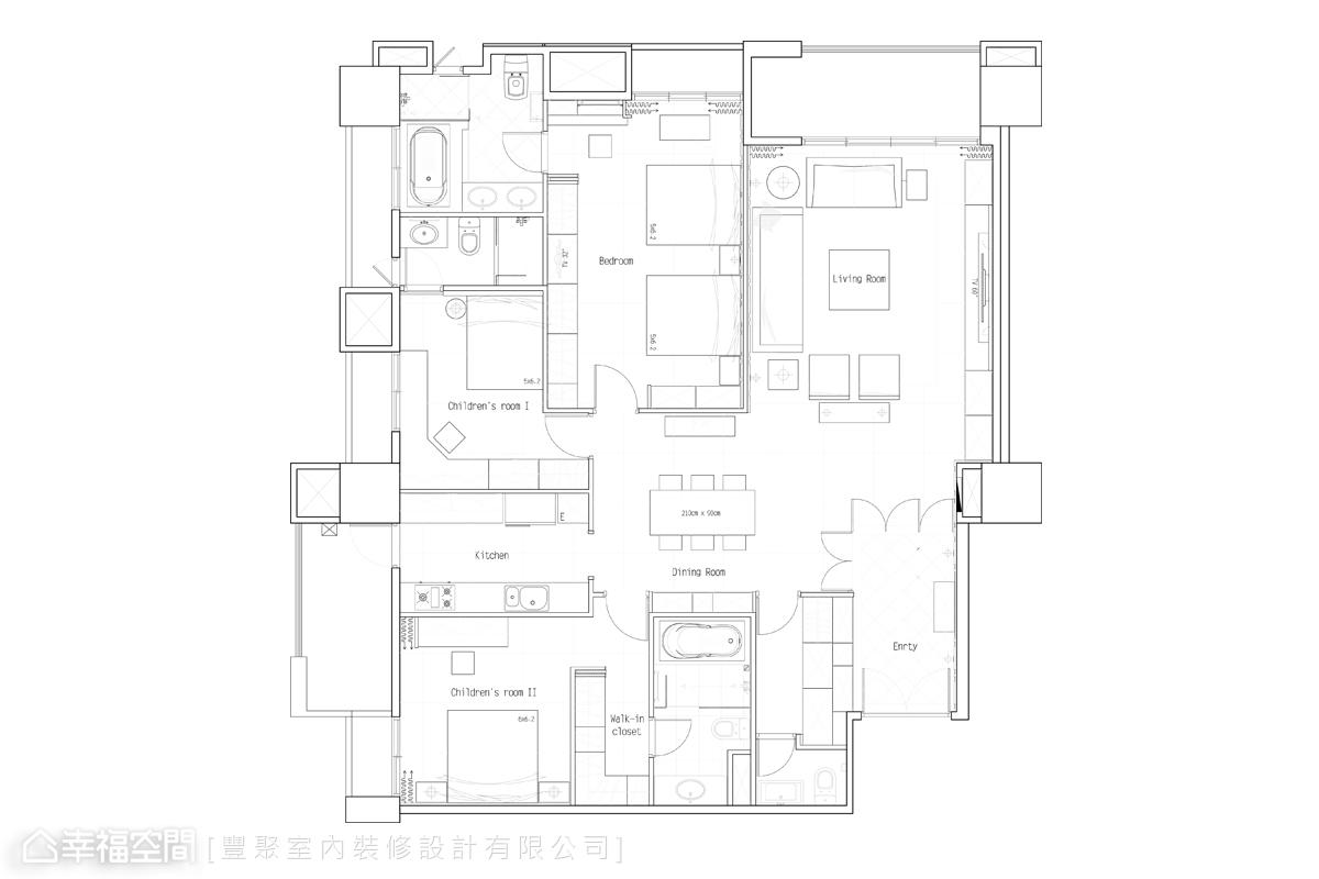 樂活主義。華麗紫調 現代新古典宅邸