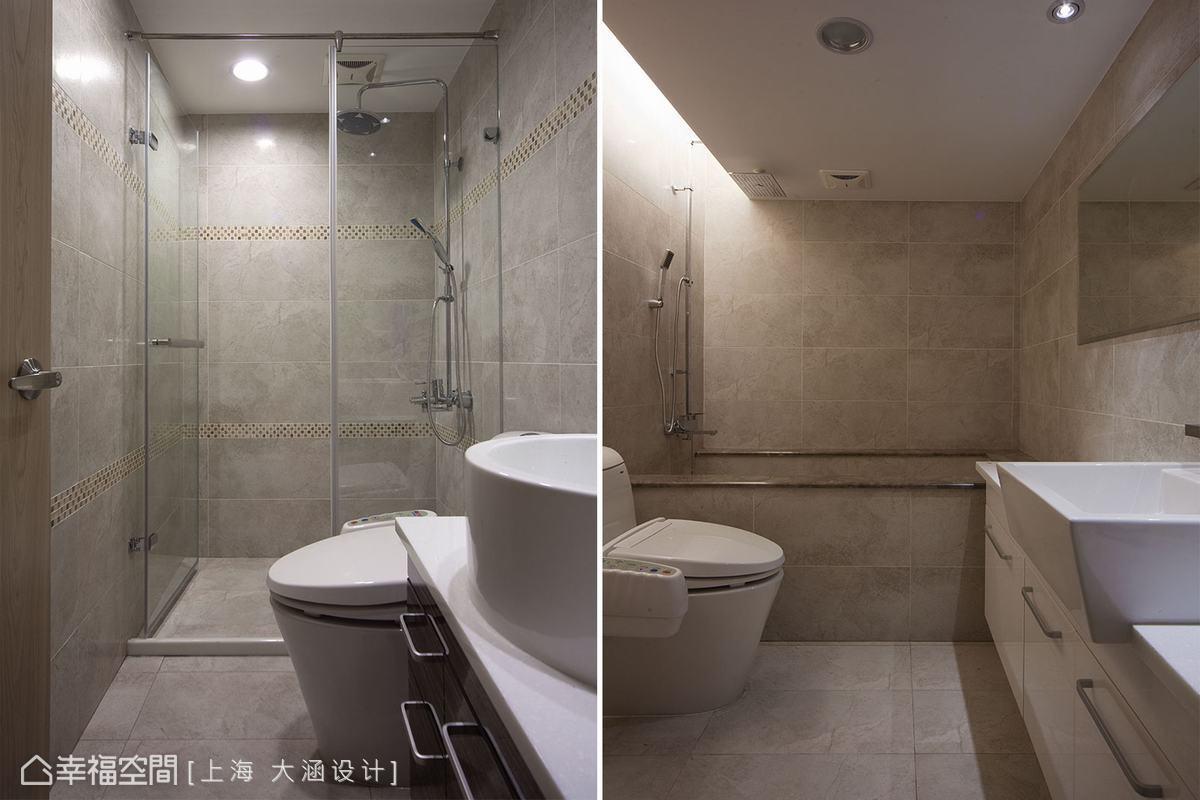 不同的衛浴設計,滿足淋浴及泡澡不同的使用需求。