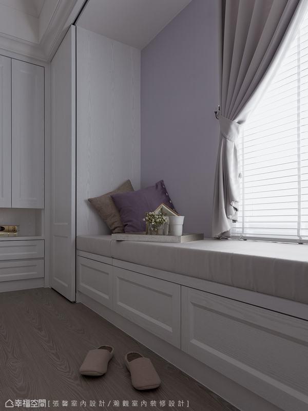 淡雅的紫色系,構築唯美浪漫的寢居氛圍。
