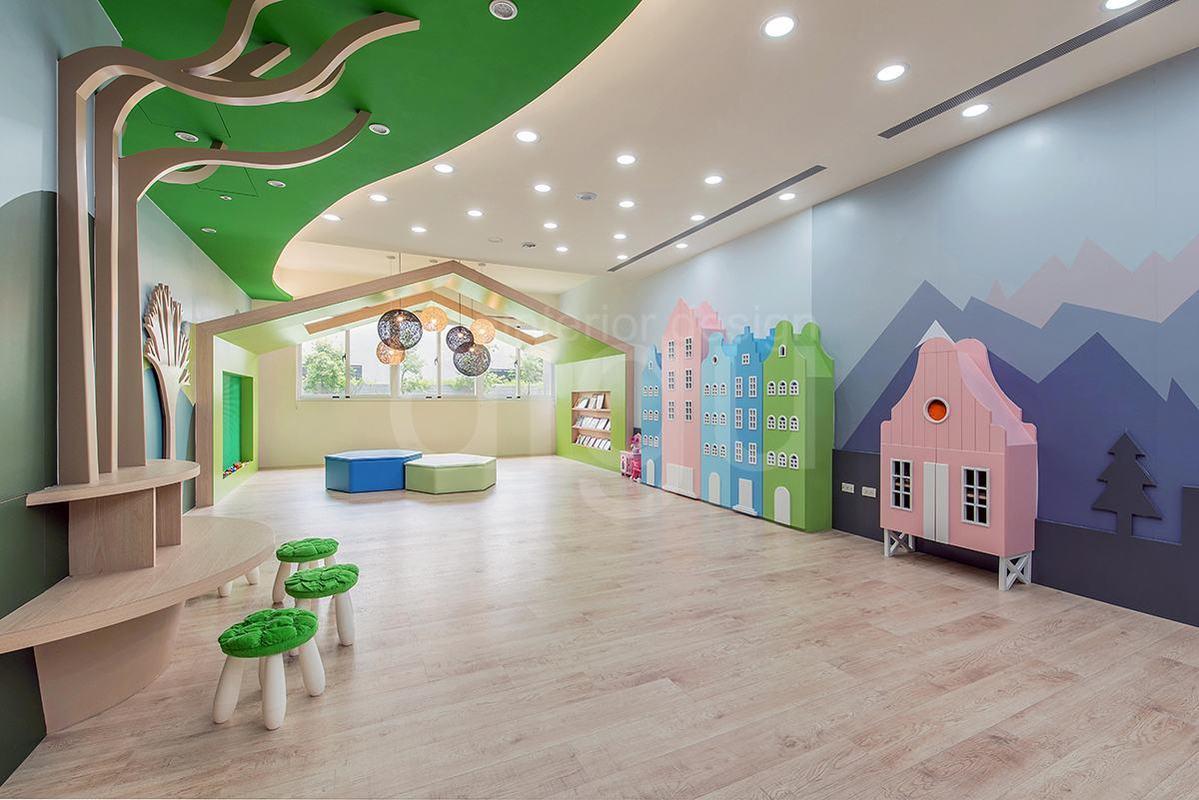 徜徉於自然元素的北歐風幼兒園