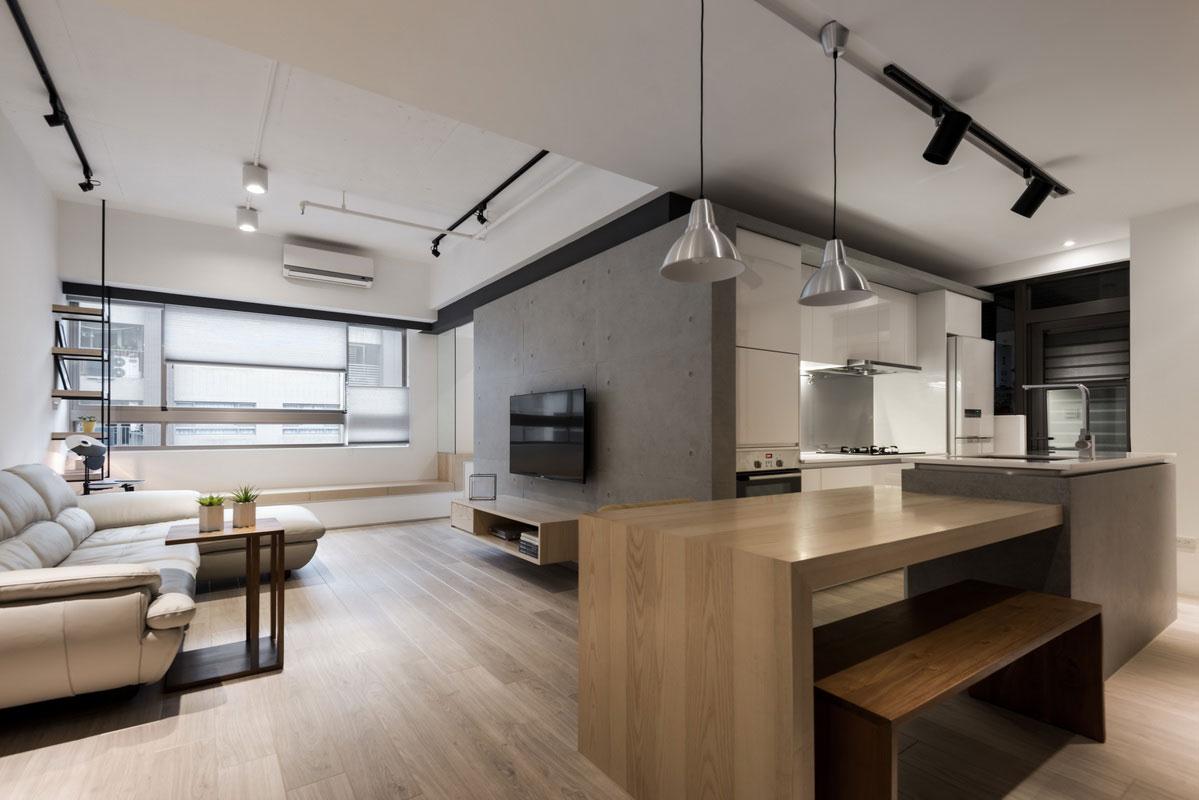 撫平轉角 小坪數也有大中島廚房