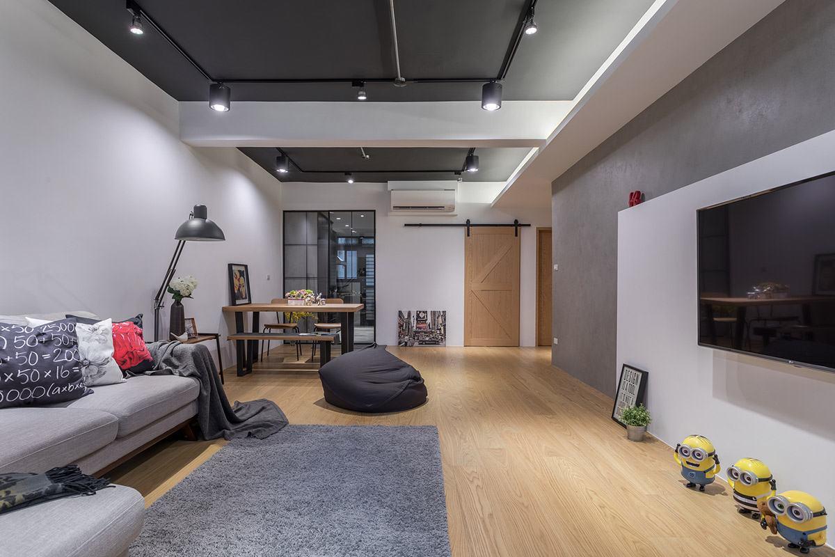 簡約乾淨 北歐輕工業宅