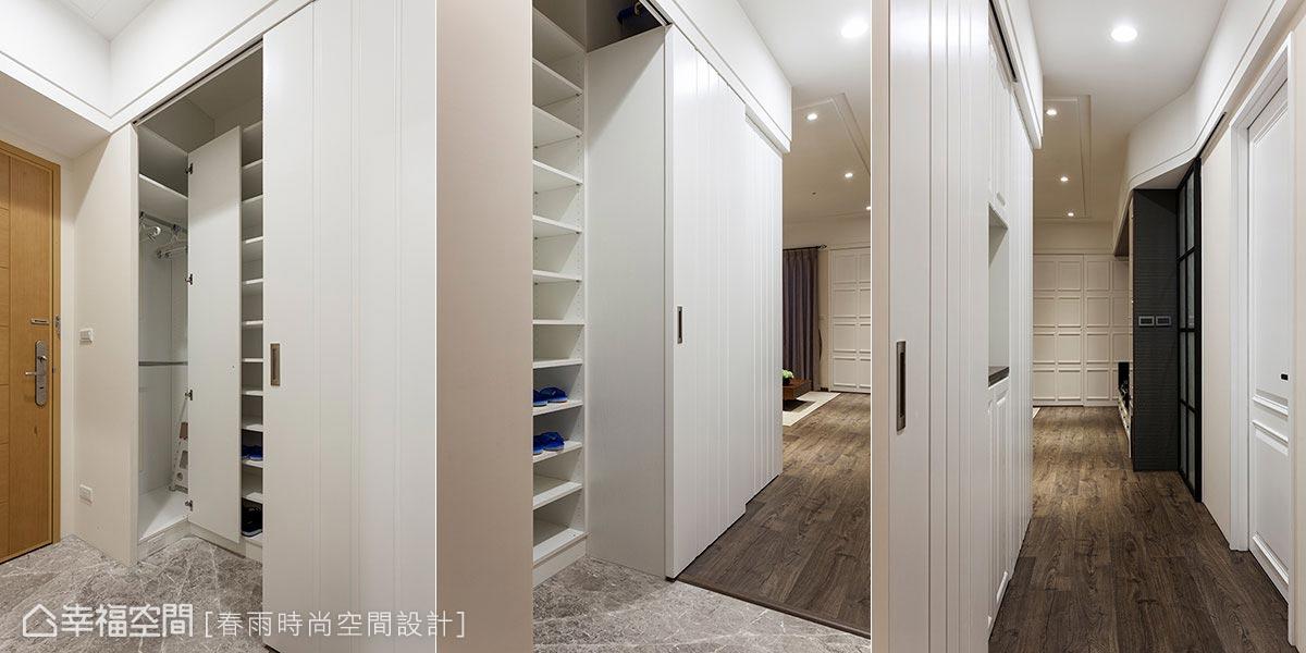 3招教你做好玄關收納、儲物技巧~空間不夠可以用「雙櫃合壁」法!