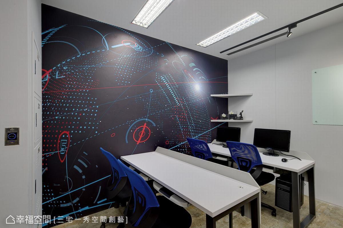 以整艘星際戰艦為設計主軸,三宅一秀空間創藝設計團隊精心挑選船艙背景,為科技領航的概念做了最佳詮釋。