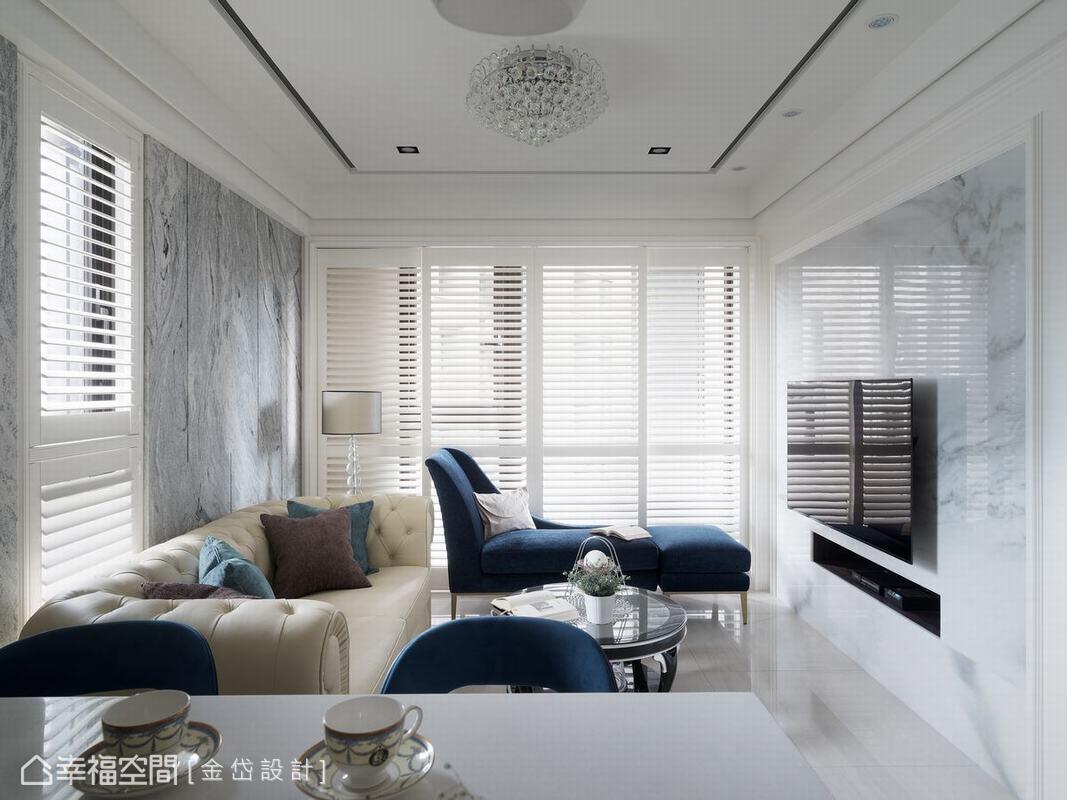 金岱設計在有限的空間中,利用格局重整創造些許層次感,同時營造令人驚艷的精品旅店氛圍。