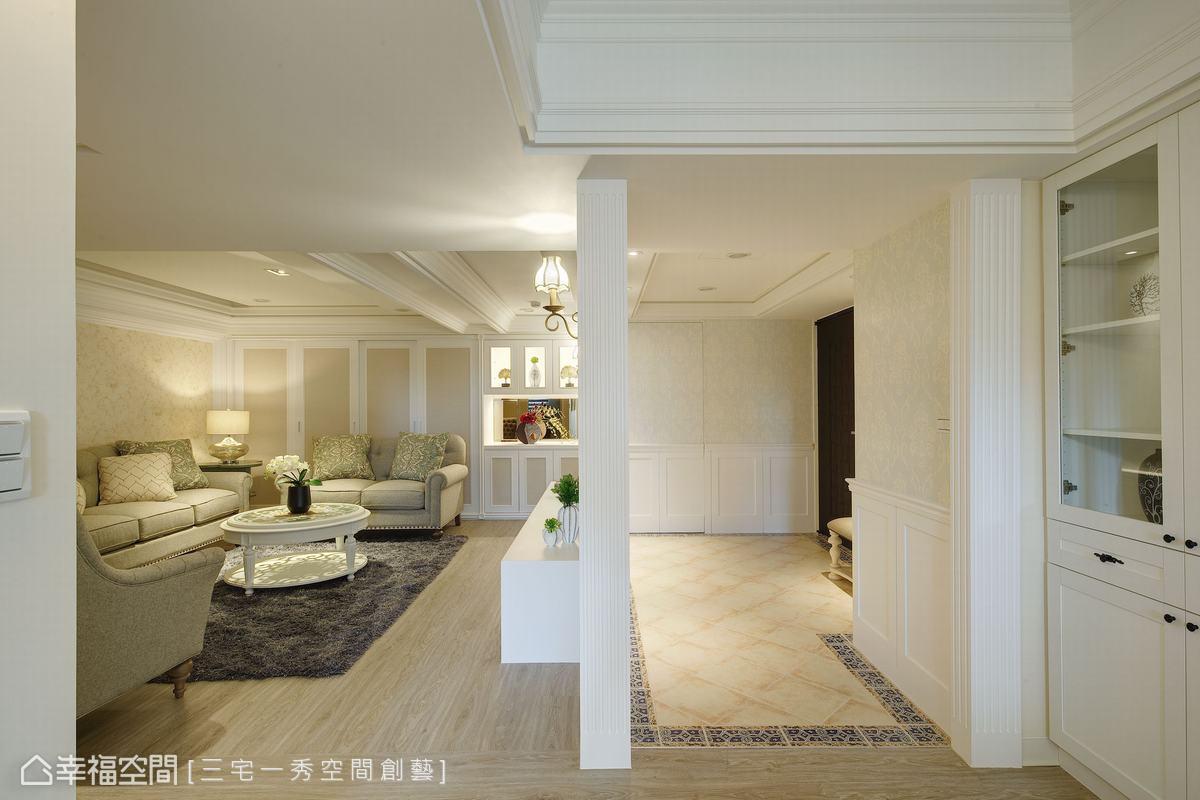 透過郁琇琇設計師的妙手,重整後的老屋格局,串起更寬敞舒適的生活動線。