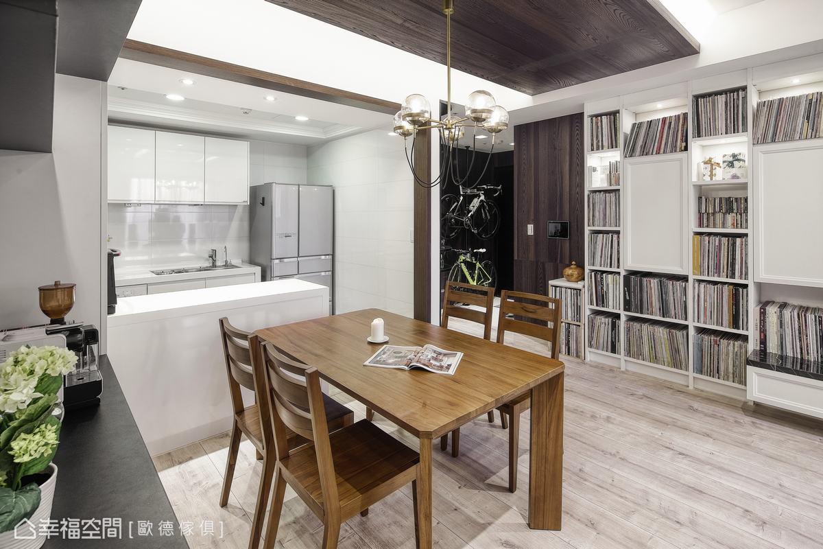 形塑黑膠品味生活!系統傢俱勾勒古典風優雅宅