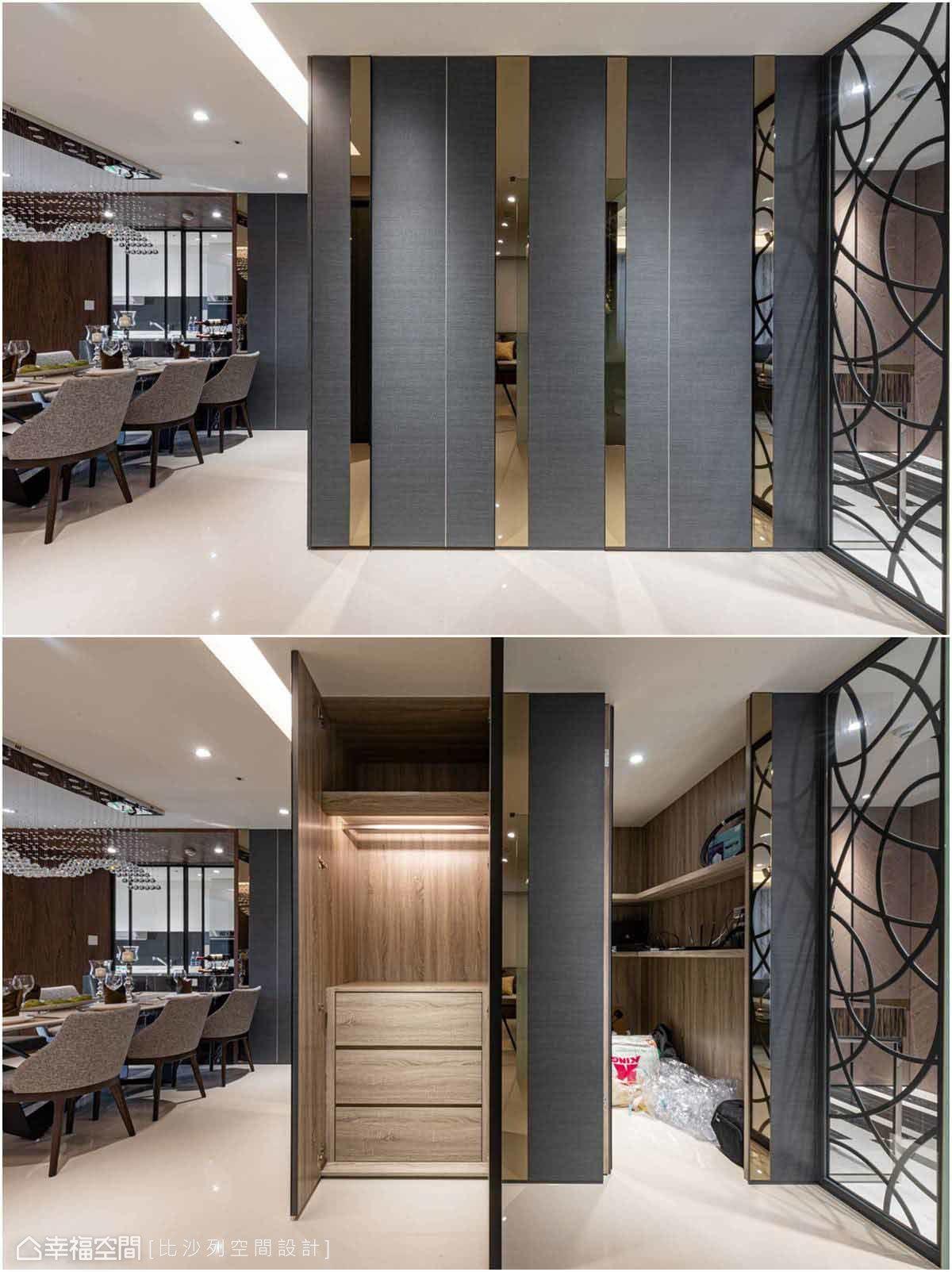 儲藏室及收納空間完美融於牆面中,使牆面維持整體感,不會顯得零碎紛亂。