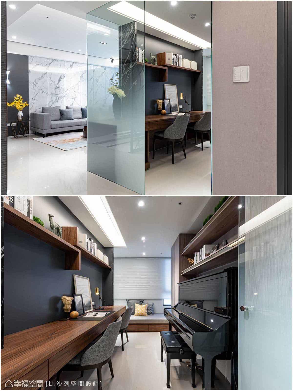 運用玻璃材質區隔場域,維持空間通透感,卻仍保有私密安全感。