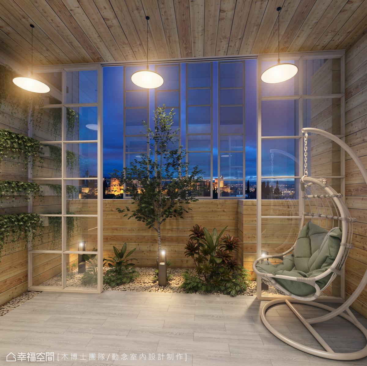 城市中的悠閒假期:台中15坪頂樓花園大改造