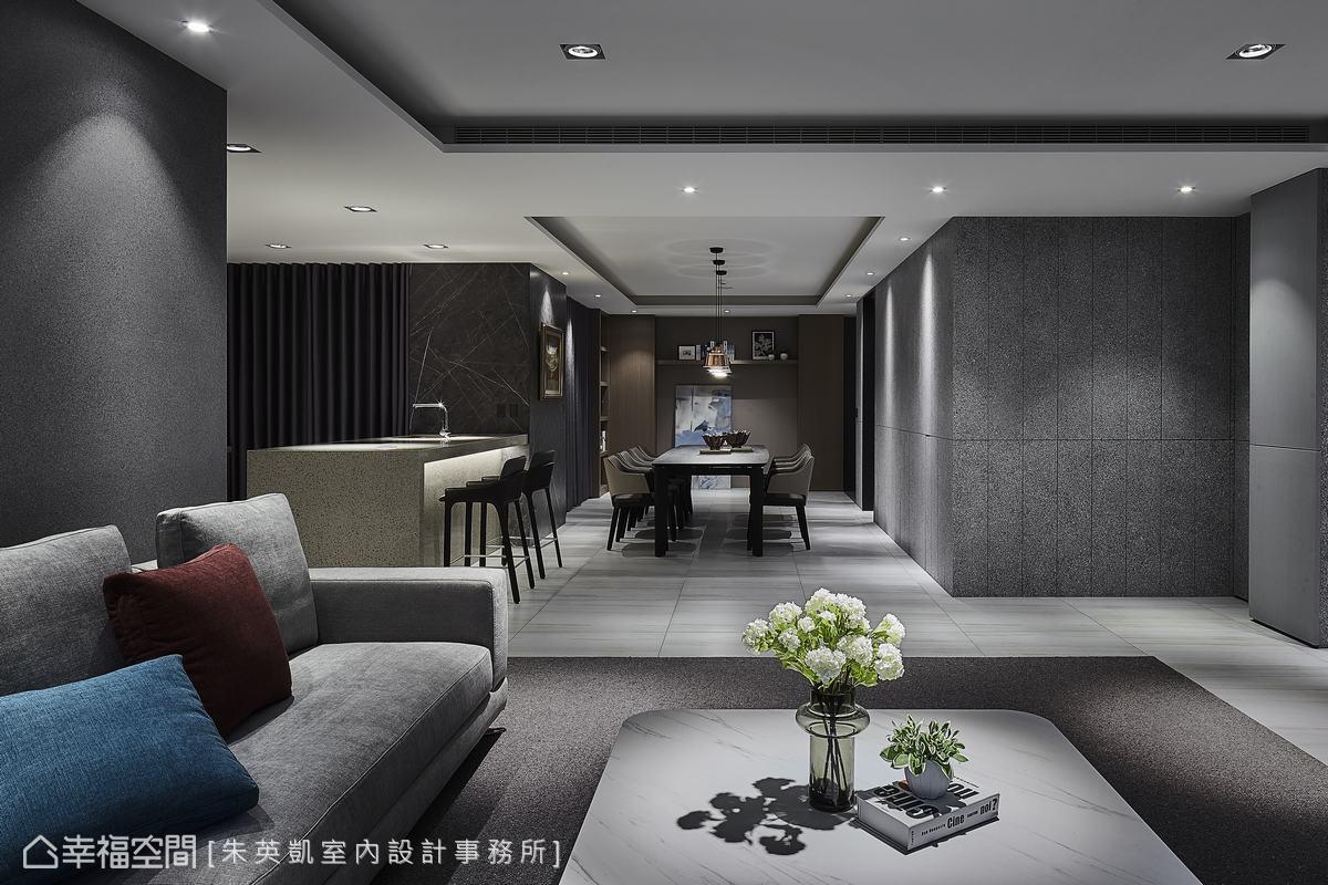 低彩度的內斂灰,暈染一室的低調優雅,屋主希望賓客來此,都能享受完全放鬆的極致尊寵。
