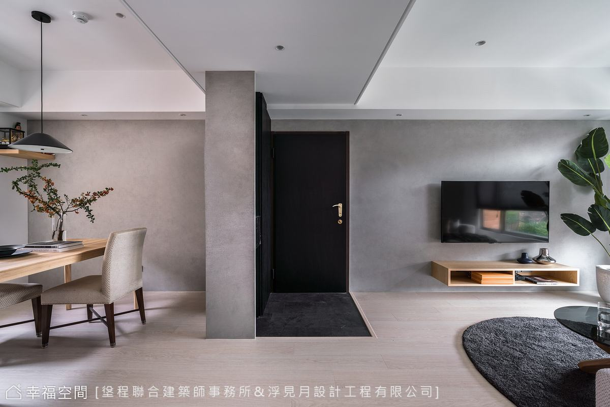 灰階×原木調和自然質地 描繪恬靜居宅生活感