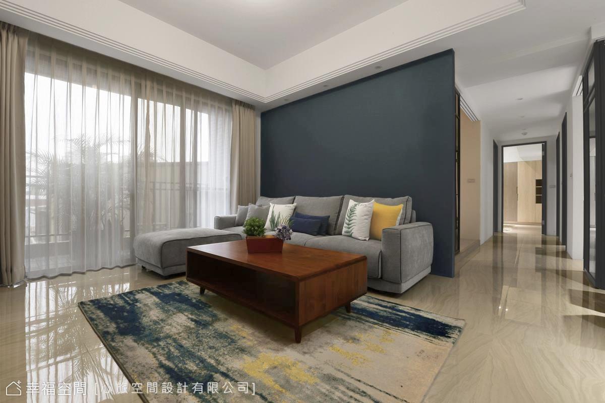 灰藍調的慵懶旋律|休閒多元|25坪|3房、2廳、2衛