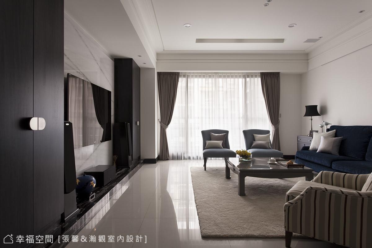 襯托屋主氣質 美式黑白系空間