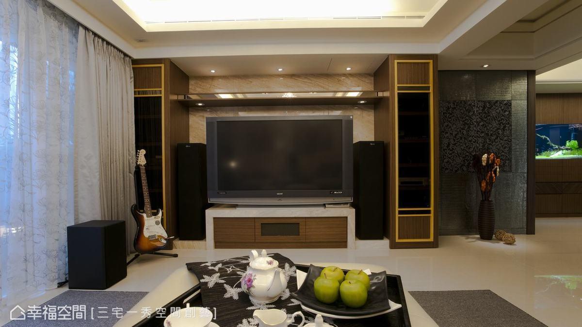 帝諾大理石襯底、加以三層大理石重低音喇叭檯面,創造了視聽室般的質感享受。