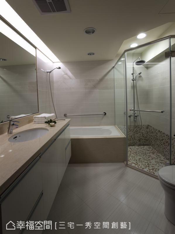 放大後衛浴空間,讓沐浴時刻更加享受。