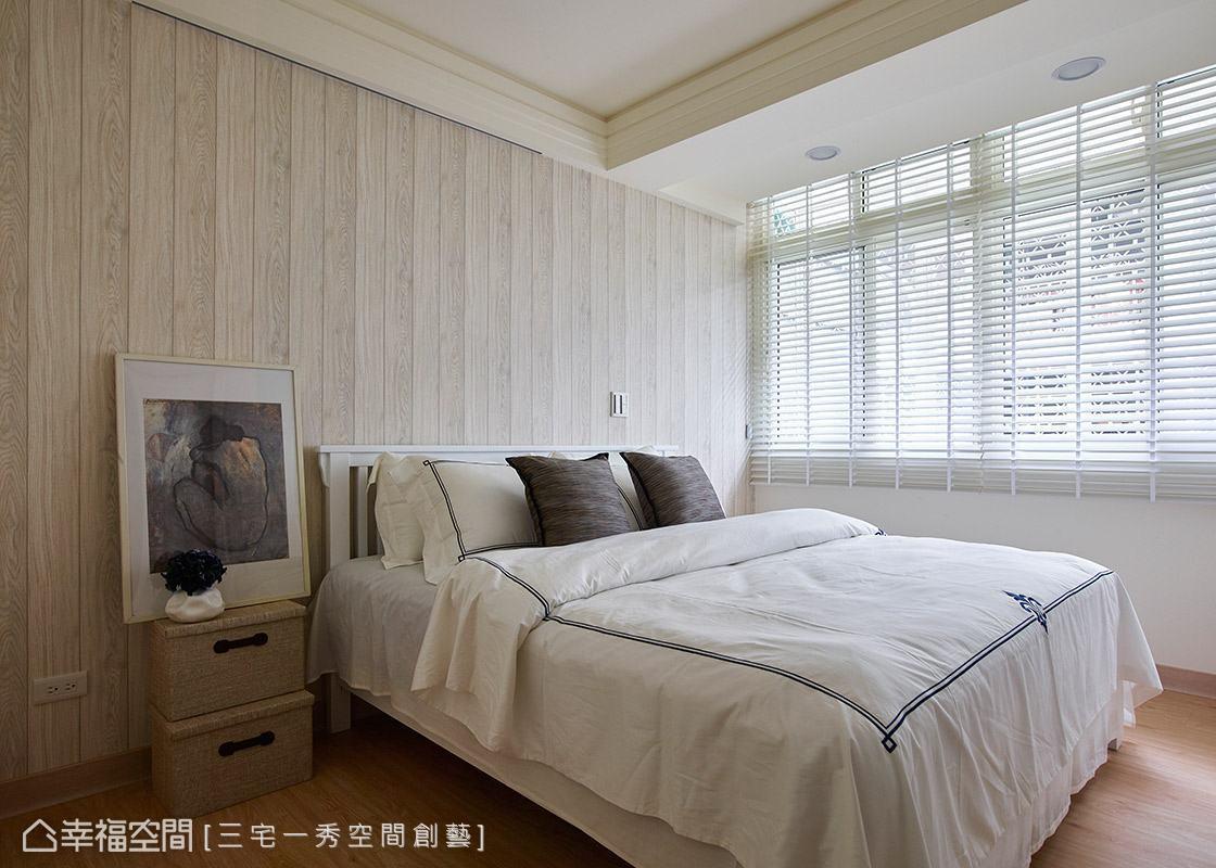延續木紋語彙營造一室紓壓感受,適當將空間留白,給予居住者自行發揮的彈性。