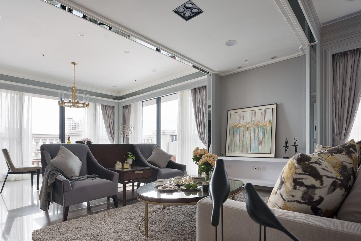 打破室內空間界限 輕奢×時尚美式宅