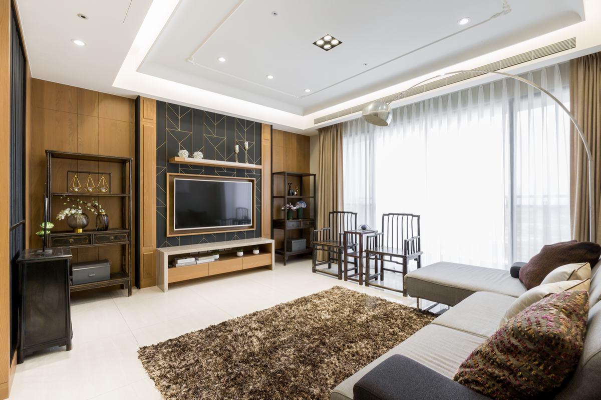 40坪新中式! 圍塑溫馨復古的溫柔雅緻 -復古黑金低奢風