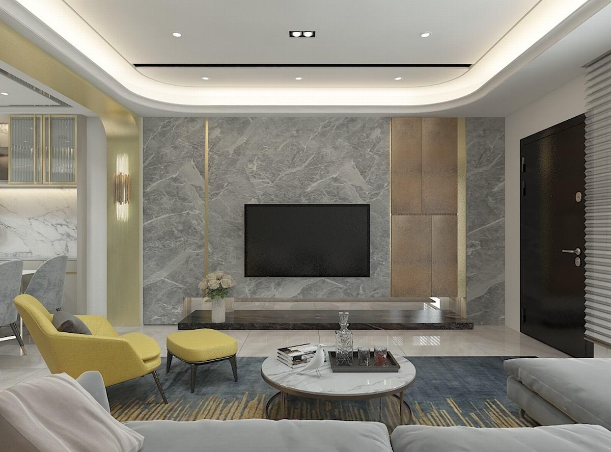 石材與金屬的對話  激盪出現代奢華Chic宅
