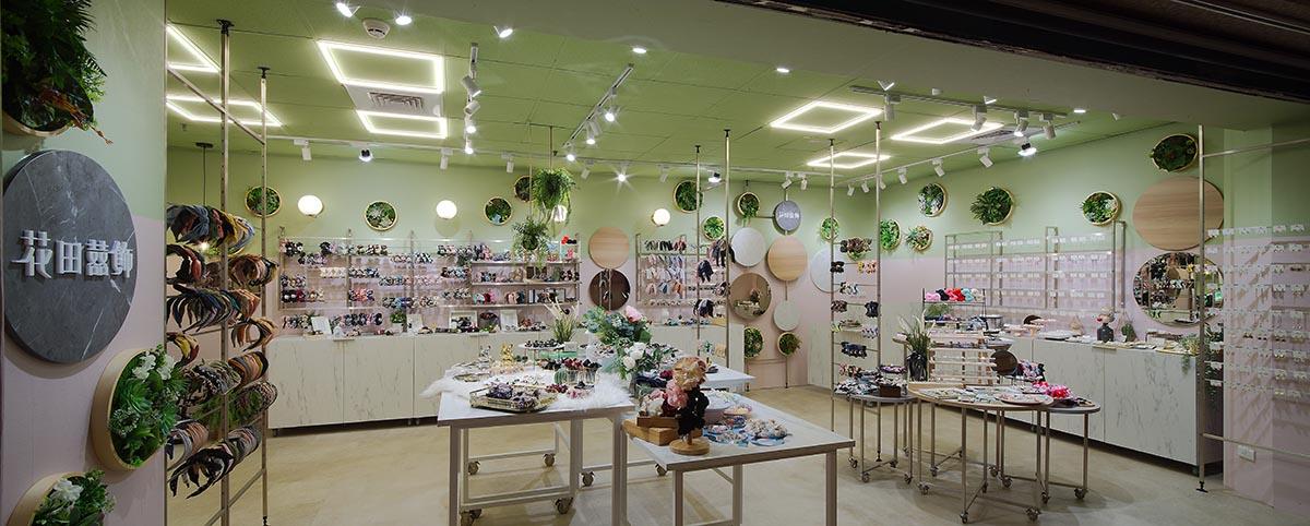 粉紅甜美與淺綠叢林  自然系髮飾店